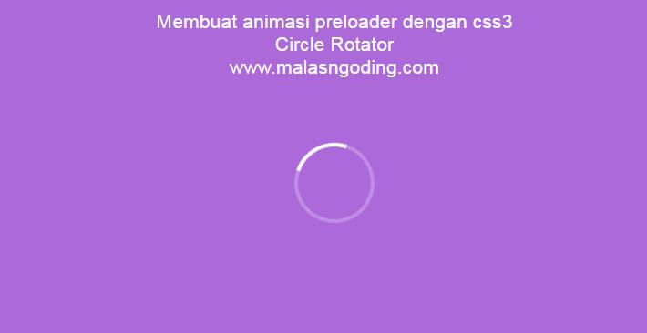 membuat animasi preloader dengan css3