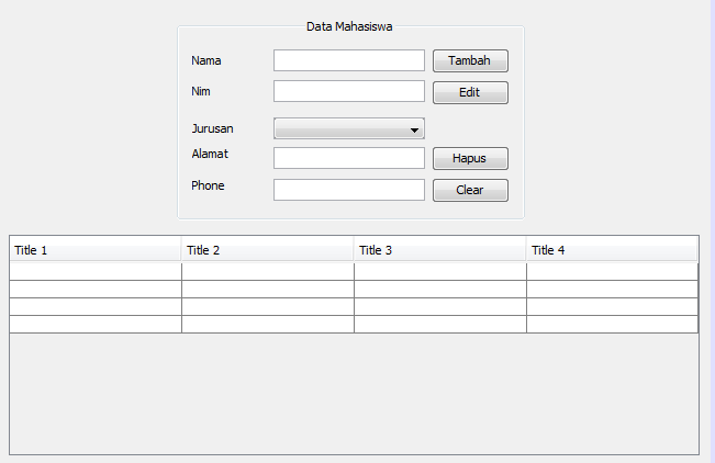Cara Membuat CRUD Dengan Java MySQL