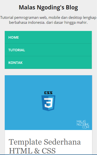 Membuat Template Web Responsive