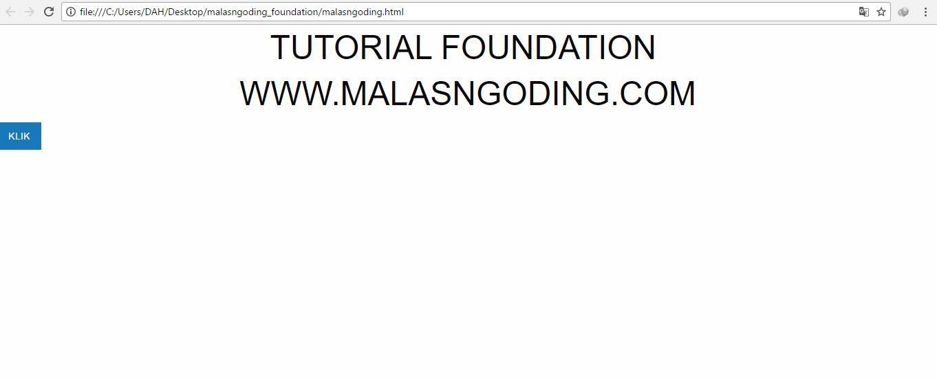 instalasi cara menggunakan framework foundation