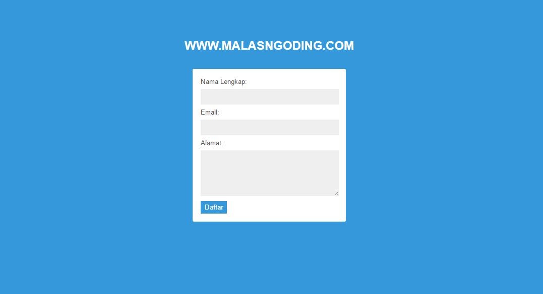membuat form validasi dengan javascript