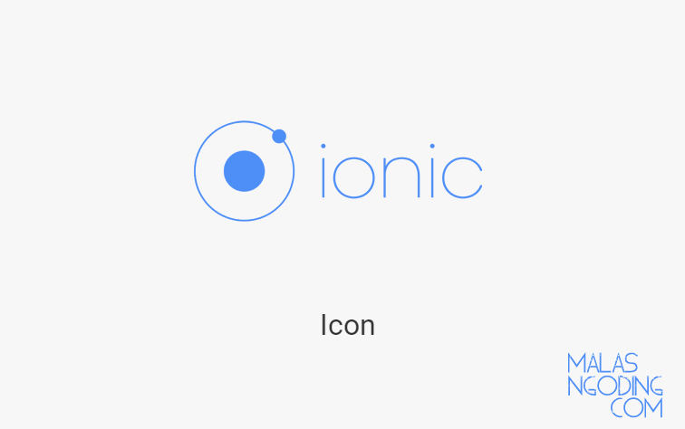 membuat icon pada ionic
