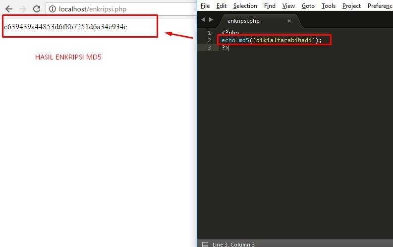 pengertian penggunaan dan cara membuat md5 pada php