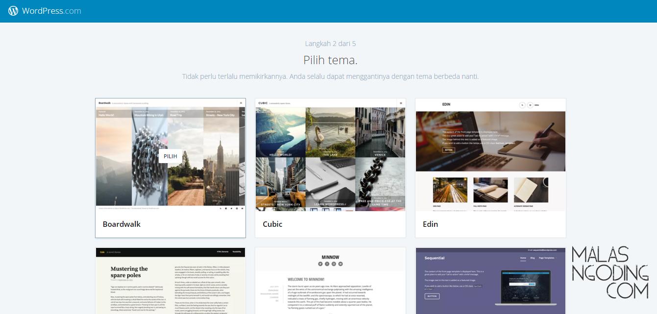 cara membuat blog di wordpress gratis mudah