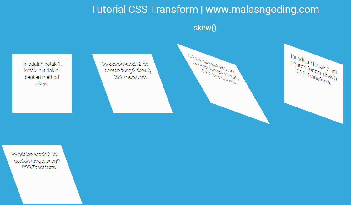 css3 transform function skew