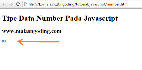 tipe data number pada javascript