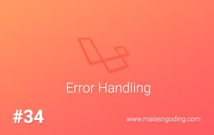 error handling laravel