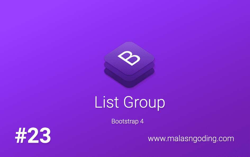 list group bootstrap 4