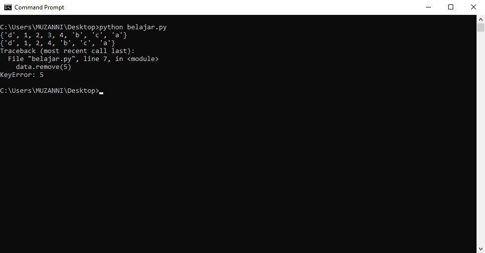 Operasi Tipe Data Set