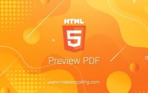 Menampilkan File PDF Di HTML Dengan Mudah